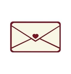 envelopes love card icon vector image