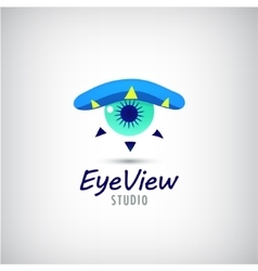 eye logo visual media sign vector image