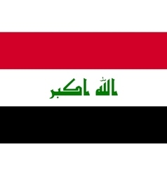 Flag of iraq in correct proportions and colors vector