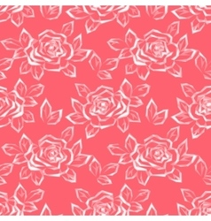 Flower Rose Low Poly Pattern vector image