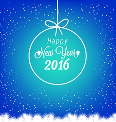 Happy New Year 2016 with christmas balls vector image vector image