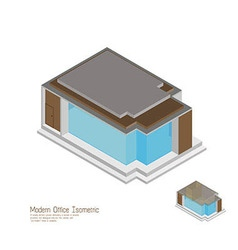 Isometric moderm home vector image