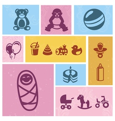 kids design elements vector image