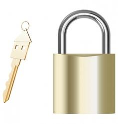 padlock and key vector image