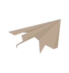paper plane origami modeling creative vector image vector image