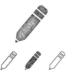 Pencil icon set - sketch line art vector image vector image