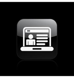 profile page icon vector image vector image