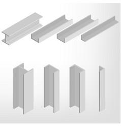 steel beam isometric vector image vector image