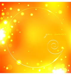 Summer yellow background with shell vector image vector image