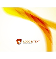 Sunny blur yellow wave design vector image vector image