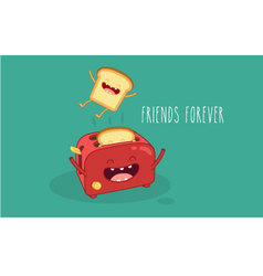 Toasters vector image vector image