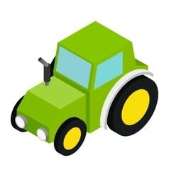 Tractor isometric 3d icon vector