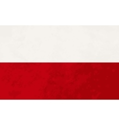 True proportions Poland flag with texture vector image