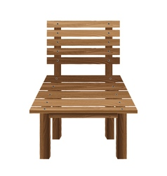 Wooden chairs on a white background Wooden vector image vector image
