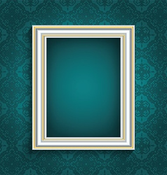 picture frame on vintage wallpaper 0508 vector image