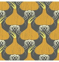 garlic roots vector image