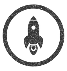 Rocket start icon rubber stamp vector