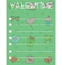 Funny greeting card for valentine day vector