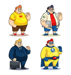 Mr Bigger Characters vector image