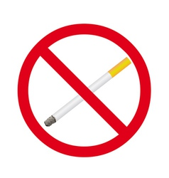 Cigarette stop sign vector image