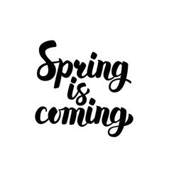 Spring is coming lettering vector