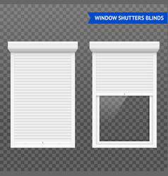 Window roller shutters set vector