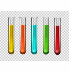 Colorful chemical in test tubes vector