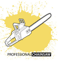 Chain saw on bright background vector