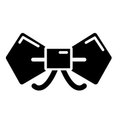 Bow tie hipster icon  simple style vector