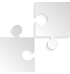 2 Puzzles Grey Pieces JigSaw Background vector image vector image