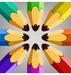 Color pencils collection vector