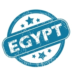 Egypt round stamp vector