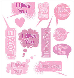 Love speach bubbles vector