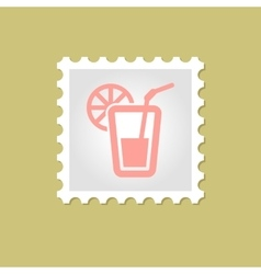 Cocktail stamp vector
