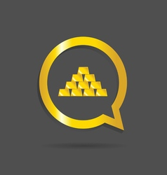 Gold bars icon vector