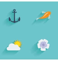 Summer Vacation objects vector image