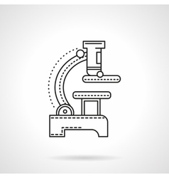 Flat black line microscope icon vector image