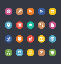 Glyphs colored icons 29 vector
