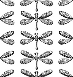 Hand drawn dragonfly vector