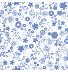 Flower abstract seamless background vector image