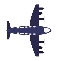 Transportation design airplane icon flat and vector