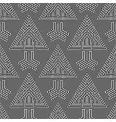 abstract triangles seamless pattern vector image