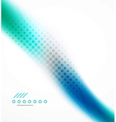 Abstract background blue wave business template vector image