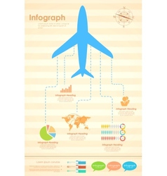 Airplane in travel infograph vector