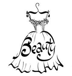 Beauty dress vector image vector image