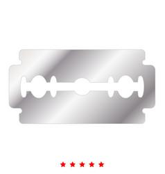 Blade razor icon flat style vector