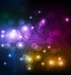 Blurred lights background vector