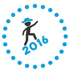 Boy climbing 2016 icon vector