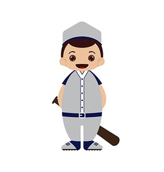 Cartoon baseball player vector image