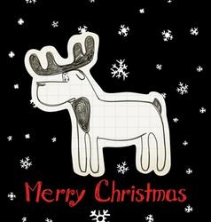 Christmas Elk vector image